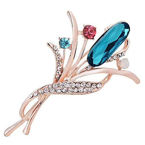 Fablcrew spille spille cristallo corpetto sciarpe scialle clip per abito da sposa, abiti cappello sciarpa fazzoletto 6.0*4.0 cm light blue
