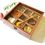 khan handicraft S K handicrafts Sheesham Wooden Spice Box