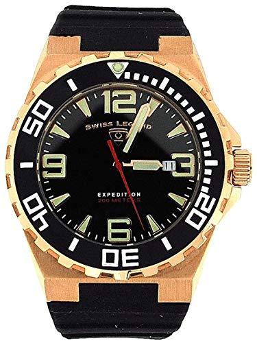 Swiss Legend 10008-rg-01-bb sl-10008-rg-01-bb-Armbanduhr Herren, Gummi Armband Farbe Schwarz (Swiss Legend Uhren Für Den Mann)