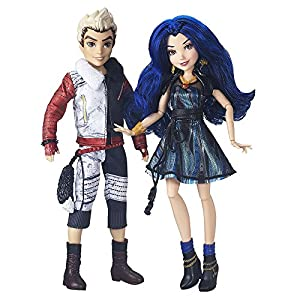 Disney Descendants Evie Isle of The Lost and Carlos Dolls, Pack of 2