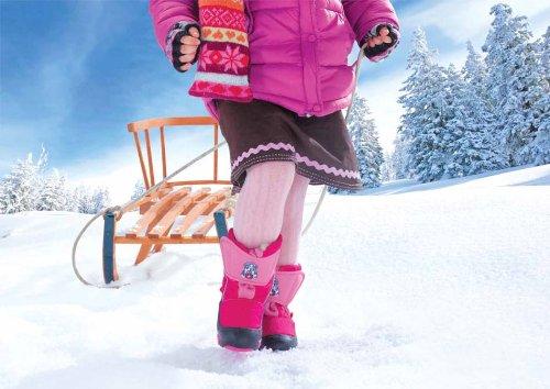 DEMAR Kinder Winterstiefel mit WOLLE gefüttert DOGGY Lila