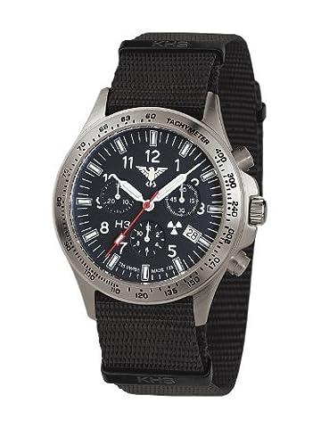 KHS Platoon KHS.PTC.N H3 Blue Titan Chronograph - Nato Armband