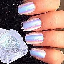 1g polvo uñas purpurina unicornio pigmento espejo holográfica cromo glitter nail art neón cristal lentejuela