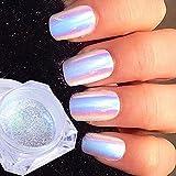0,2g Neon Einhorn Kristall Glitzerpuder Nagel Glitter Pigment Pulver Super Glanz Spiegel Paillette Nail art Holographische Chrom Staub