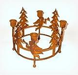 Kerzenständer 'Advent' aus Metall mit Rostfinish 20 cm