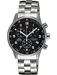 Swiss Military By Chrono Analogue Black Dial Men's Watch SM34012.01