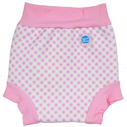 Splash About Baby Happy Nappy Wiederverwendbar Schwimmwindel, Rosa Gingan, 6-12 Monate, HNPGL