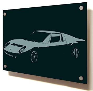 Lamborghini Miura 2 Motor Car Vehicle Size 44 X 30 110cm X