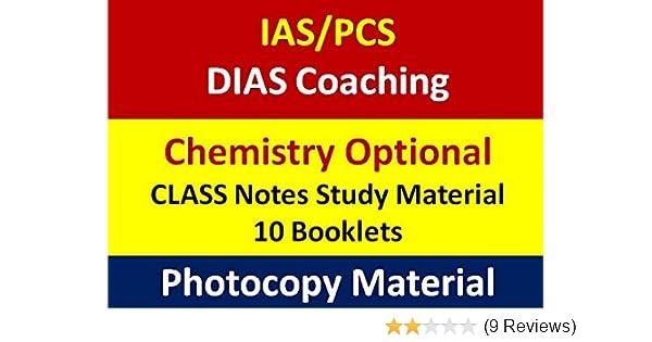 Buy DIAS Coaching IAS Chemistry Optional-Class Notes