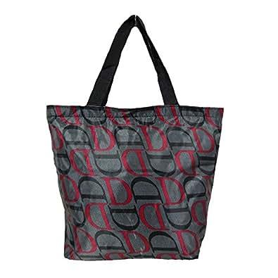 Womens womens ladies designer nylon tote handbag shopper for Designer beach bags and totes
