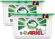 Ariel 3in1 PODS, Washing liquid capsules, Original Scent, 15 counts, Dual Pack