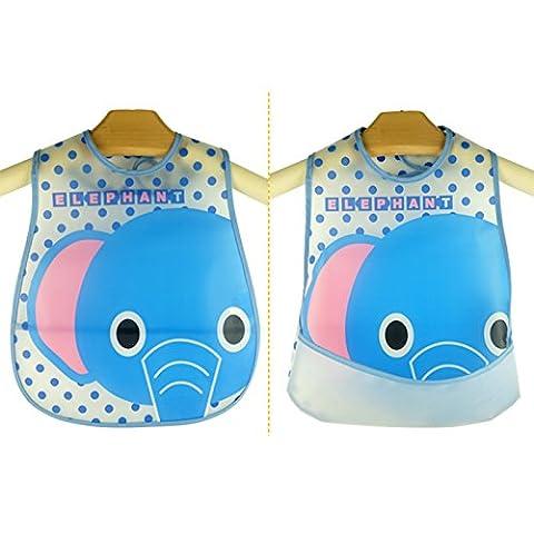 Merssavo Baby Boy Girl Kinder Lätzchen Waterproof Saliva Handtuch Cartoon Bib Fütterung Bandana EVA ?Elefant?