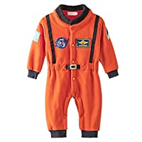 Minetom Newborn Boys Long Sleeve Rompers Baby Overalls Fashion Space Suits Baby Cosplay Costume Clothes Orange 90