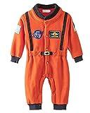 Minetom Kinder Jungen Lange Ärmel Spielanzug Strampler Baby Overalls Mode Raum Anzug Orange 90
