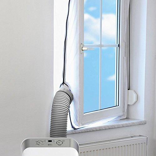 Wuudi-Airlock-finestra-guarnizione-per-mobile-condizionatori-d-aria-e-scarico-aria-Essiccatori-Pushpull-finestra-guarnizione-piastra