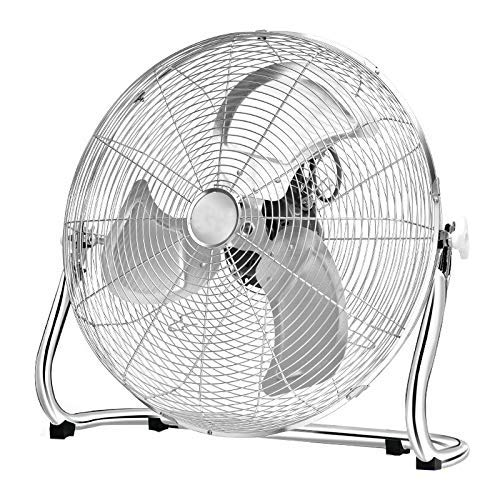 ADWN Industrielle High Velocity Orbital Drum Fan/Gym Floor Fan/Industrie-Fan/Elektro-Fan Desktop mit 3 Geschwindigkeiten und einstellbaren Ventilatorkopf / 24 Zoll,Silber (Deckenventilator Drum)