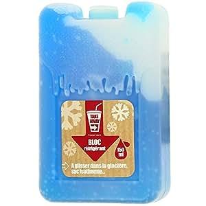 Promobo -Bloc réfrigérant Pain de Glace Accumulateur Froid Bleu
