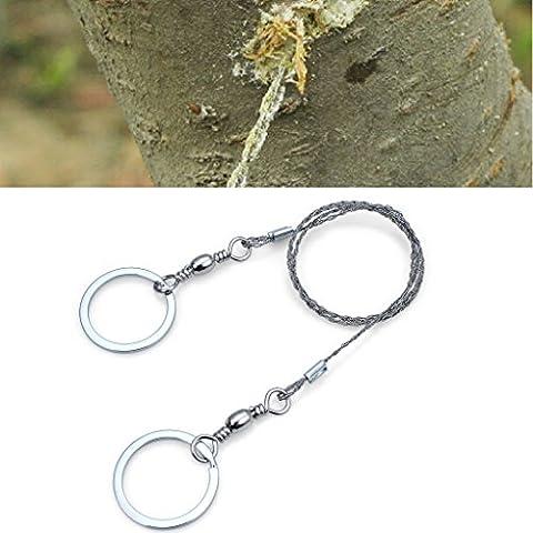 Ewin24 1 Pcs extérieure Survival fil Scies à chaîne Wire Rope Portable Lame de scie Life-Saving rotation de 360 ??degrés Curve