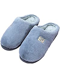 WODENINEK Pantofole di Cotone Inverno Coppia Fondo Spesso Uomini e Donne Casa  Scarpe di Cotone Antiscivolo ae21bff0f18