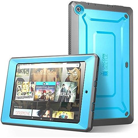 Custodia protettivo per Amazon Fire HD 8 tablet, SUPCASE guscio [Unicorn Beetle PRO Series] protezione completa con protezione dello schermo intergata, Dual Design e bumper resistente agli urti (Blu)