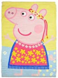 #10: Saral Home Peppa Pig Multipurpose Cotton Printed Rugs- 50x70 cm, Multi