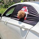 Qiuxiaoaa 1 Stück Hund Auto Fenster Sun Auto Schutzzaun Schatten Faltbare Visier Abdeckung Mit Loch Aushängen Reise Fenster Abdeckung Häuser Vergleich
