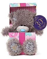 "Me to You SG01W4117 7-Inch Tall ""Tatty Teddy Happy 30th Birthday inside a Present Sits"" Plush Toy"