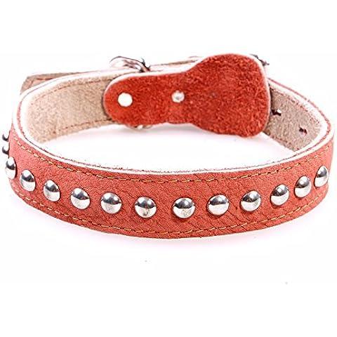 ZPP-Prodotti in Pet collare in pelle grande cane in un piccolo cane collare jinmaosamo catena,L
