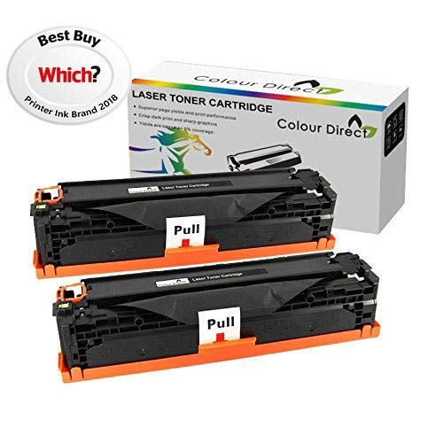 Negro x 2 Colour Direct Q2612A 12A Cartucho de tóner Para HP LaserJet 1010 1012 1015 1018 1020 1022 3010 3015 3020 3030 3050 3052 3055 M1005