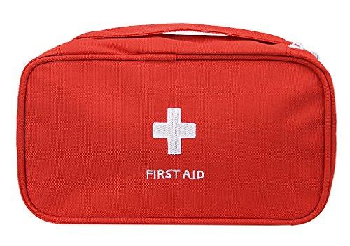 Oxford Gewebe Medizintasche, Reiseapotheke Tasche, Betreuertasche für Familien Erste Hilfe Tasche Notfalltasche Rot/Weiß