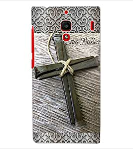ColourCraft Cross Design Back Case Cover for XIAOMI REDMI 1S