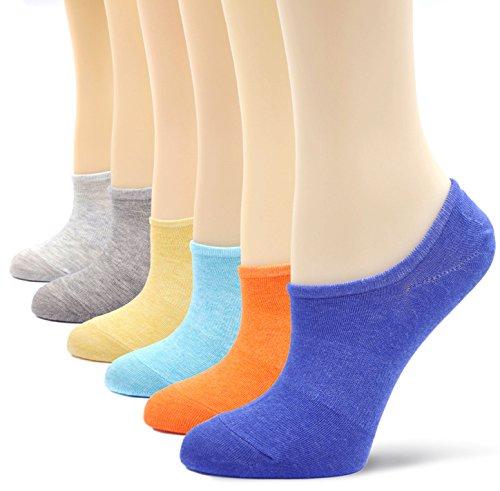 LOFIR Womens No Show Socken Baumwolle Casual unsichtbare Socken nicht Beleg Flache...
