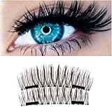 Neue Dual Magnetische falsche Wimpern Ultra Thin 3D-Fiber wiederverwendbare Beste gefälschte Wimpern Extension für die Natürliche, Perfekt für tiefliegende Augen & runde Augen 8 pcs