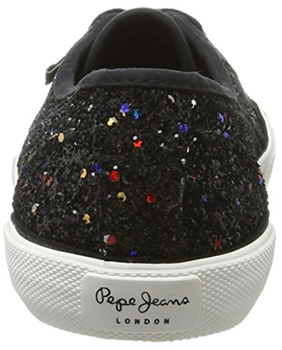 Pepe Jeans London Damen Aberlady Studio Sneaker Schwarz (Black)