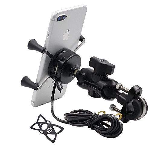TR Turn Raise Motorcycle Phone Mount USB Charging Holder 18464e784d62