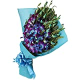 #7: Floralbay Blue Orchids Fresh Flowers in Paper Wrapping (Bunch Of 12)