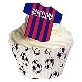 Die besten Fußball-Hemden - 12 X Zuckerfreie Tortendekorationen - Barcelona Fußball-Hemd Wafer Bewertungen