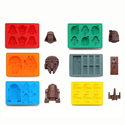 uctop Store Force Awake Silikon Ice Cube Tablett Star Wars Schokolade Jelly Candy Seife Kuchen Form zufällige Farbe