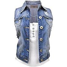 1c7dfdbefda2 nouveau Denim Femmes Veste gilet jean taille 8 10 12 14 16