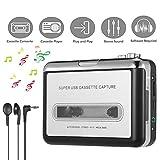 Lychee Portatile registratore a Cassetta/Audio Cassetta Nastro,Cassette Tape to MP3 CD Convertitore PC via USB,Retro Walkman Auto Lettore Audio Tape con Auricolari