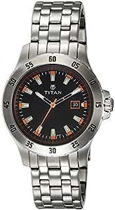 Titan Octane Analog Black Dial Men's Watch - 9446SM01J