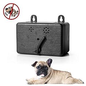 Leegoal Intérieur et extérieur Anti aboiements Appareil, étanche à ultrasons Dog Bark Control, 4Niveaux Réglables Bark Stop Répulsif Silence–jusqu'à 50Pieds Gamme