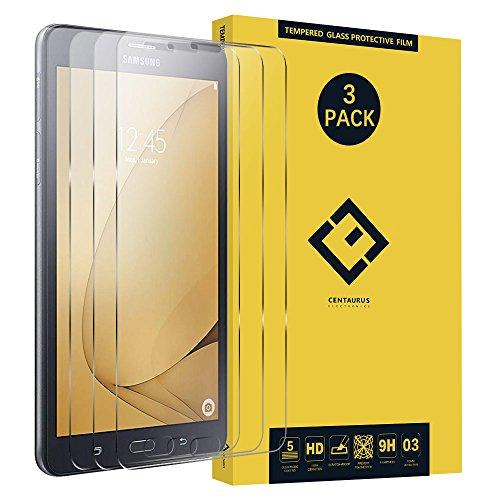 Galaxy Tab A 7.0Glas Displayschutzfolie, (3Packungen) blendfrei superdünn Transparent 9H Härte gehärtetes Glas Schutz Film für Samsung Galaxy Tab A 7.02016sm-t280sm-t285t285m t285yd Invisibleshield Screen Film