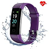 Showyoo Fitness Tracker with Heart Rate Monitor, Colour Screen Smart Watches Sports Activity