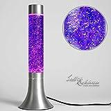 Lampe à lave moderne à paillettes violet rétro design verre violet H:38cm idée cadeau lumière d'ambiance idée cadeau chambre jeunesse[classe d'énergie E].
