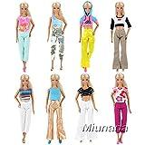 Miunana 5 Vêtements en Vogue Aléatoire pour Barbie