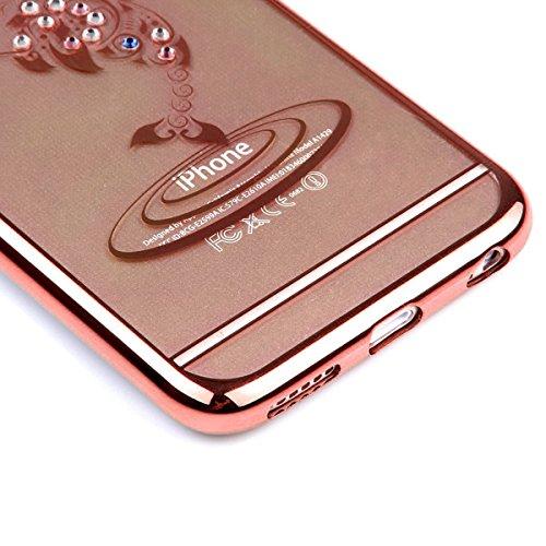 iPhone 7 Hülle Transparent,iPhone 7 Hülle Silikon,iPhone 7 Hülle Clear,iPhone 7 Hülle Glitzer,iPhone 7 Crystal Clear TPU Case Hülle Klare Ultradünne Silikon Gel Schutzhülle Durchsichtig Rückschale Etu TPU 12