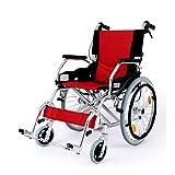 Rollstuhl Leichtgewicht Deluxe-Faltdurchgangsfahrt in einer Tasche mit Handbremsen