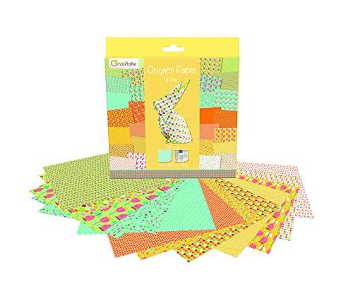 Avenue Mandarine OR505O Origami Papier Set (20 x 20 cm, 60 Blatt, 70 g) bunt / frühling