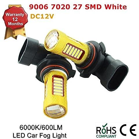 9006HB4702027LED lumières Blanc 6000K Voiture ampoule de brouillard ampoule lampe DC 12V (lot de 2)